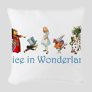 Alice Blue 4 Woven Throw Pillow