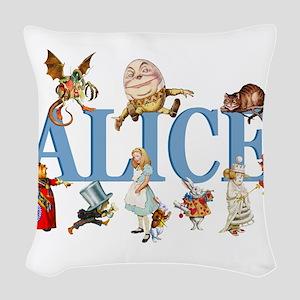 Alice Blue 3 Woven Throw Pillow