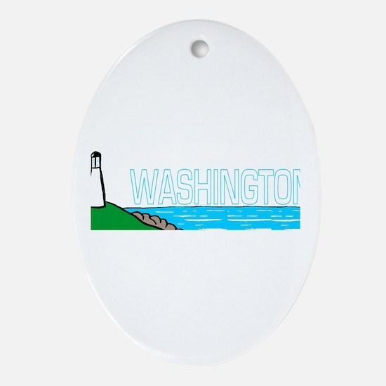 Washington Oval Ornament