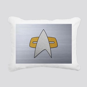 STARTREK VOY METAL Rectangular Canvas Pillow