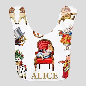 Alice_In Wonderland_GOLD Bib