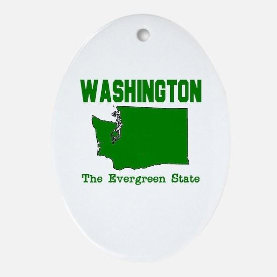 Washington . . . The Evergree Oval Ornament