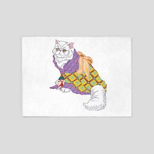 Kimono Kitty 5'x7'Area Rug