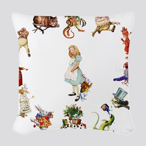 Through The Looking Glass Woven Throw Pillow