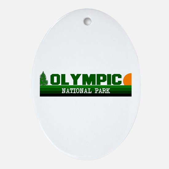 Olympic National Park Oval Ornament
