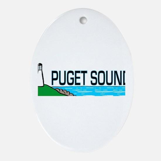 Puget Sound Oval Ornament