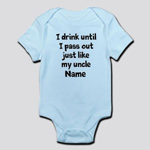 Drink pass out aunt uncle Infant Bodysuit