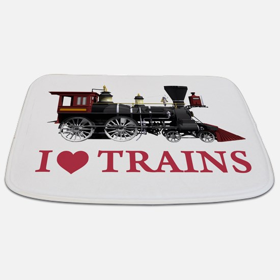 I LOVE TRAINS RED copy.png Bathmat
