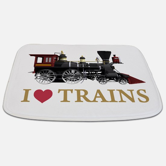 I LOVE TRAINS GOLD copy.png Bathmat