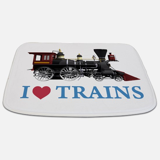 I LOVE TRAINS BLUE copy.png Bathmat