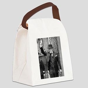 winston churchill Canvas Lunch Bag