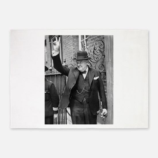 winston churchill 5'x7'Area Rug