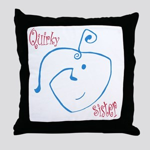 Quirky Sister Throw Pillow