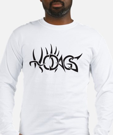 Hodags Black Tribal Tattoo Long Sleeve T-Shirt