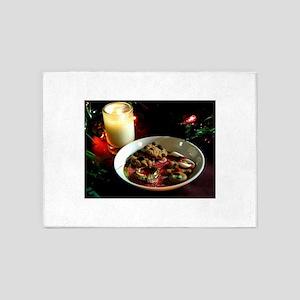 Christmas Cookie Candle 5'x7'Area Rug