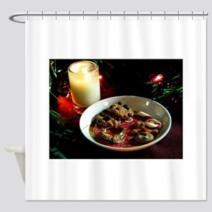 Christmas Cookie Candle Shower Curtain
