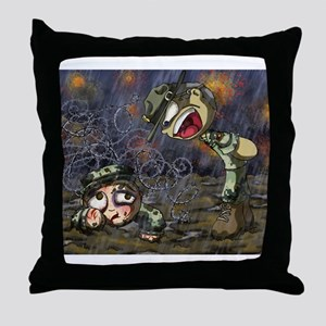 Drill Sergeant Throw Pillow