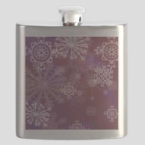Purple Winter Flask