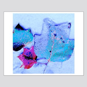 Snow-Covered Leaves Posters Small Poster