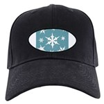 Blue and White Snow Flakes Baseball Hat