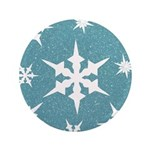 Blue and White Snow Flakes 3.5