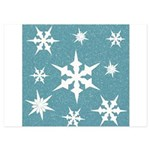 Blue and White Snow Flakes Invitations
