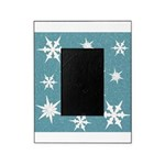 Blue and White Snow Flakes Picture Frame