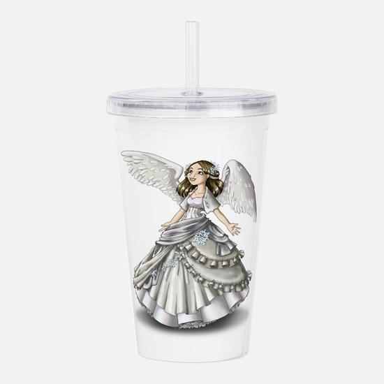Snow Angel Acrylic Double-wall Tumbler
