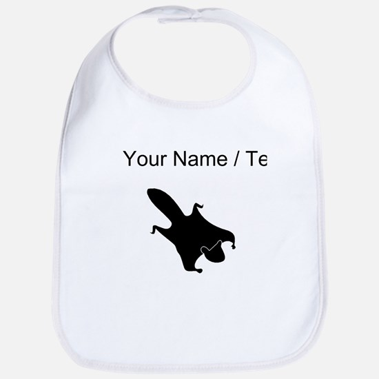 Flying Squirrel Silhouette (Custom) Bib