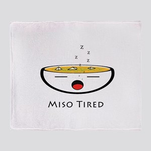 Miso Tired Throw Blanket