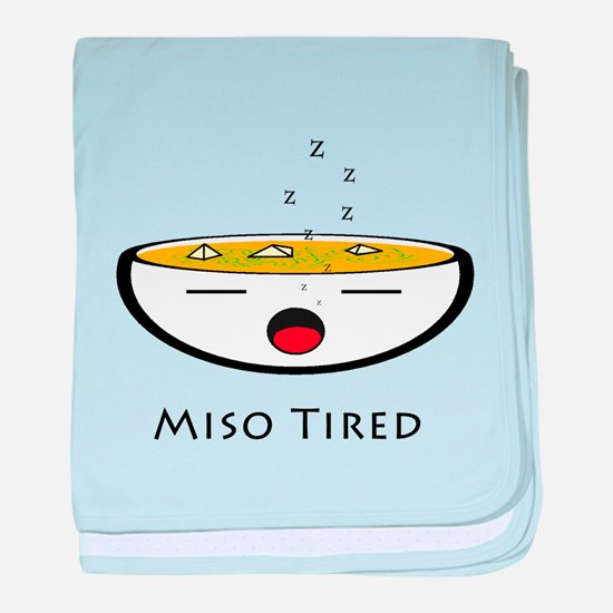 Miso Tired baby blanket