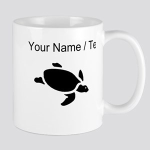 Sea Turtle Silhouette (Custom) Mugs