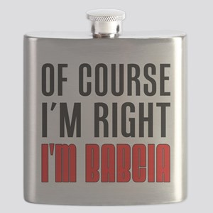 I'm Right I'm Babcia Flask