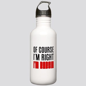 I'm Right I'm Babcia Stainless Water Bottle 1.0L