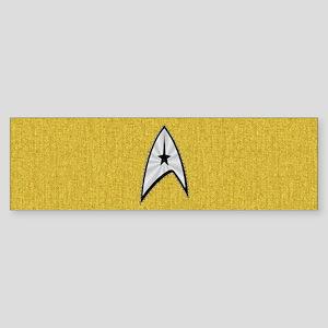 STARTREK TOS DENIM GOLD Sticker (Bumper)