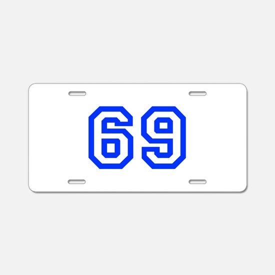 69 Aluminum License Plate