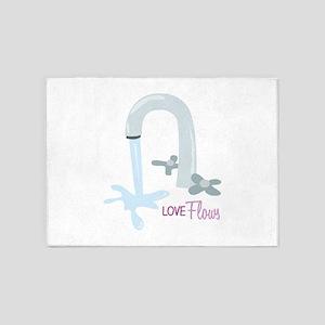 Love Flows 5'x7'Area Rug