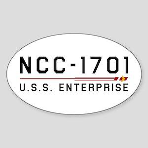 USS Enterprise Original Dark Sticker