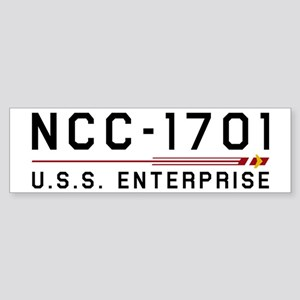 USS Enterprise Original Dark Bumper Sticker