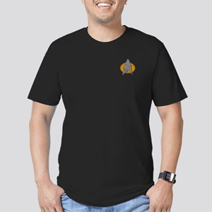 STARTREK TNG STONE Men's Fitted T-Shirt (dark)