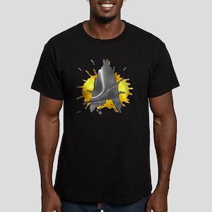 STARTREK TNG PAINT Men's Fitted T-Shirt (dark)