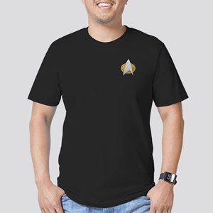 STARTREK TNG METAL Men's Fitted T-Shirt (dark)