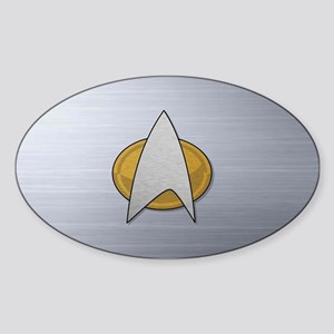 STARTREK TNG METAL Sticker (Oval)