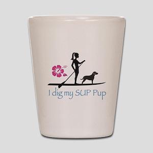 SUP Pup Girl Shot Glass