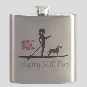 SUP Pup Girl Flask