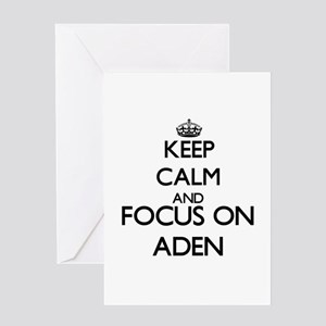 Keep Calm and Focus on Aden Greeting Cards