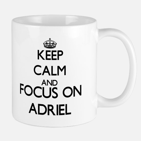 Keep Calm and Focus on Adriel Mugs