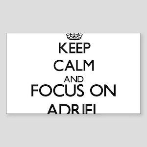 Keep Calm and Focus on Adriel Sticker