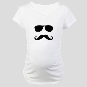mustache_sticker Maternity T-Shirt