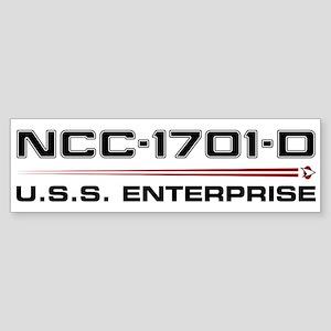 USS Enterprise-D Dark Bumper Sticker
